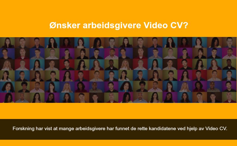 ønsker arbeidsgivere video cv?